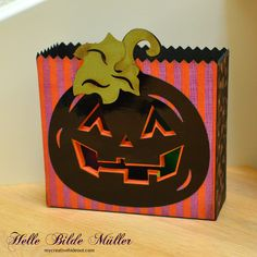 Made in and used as a luminary. Jack O, Tim Holtz, Svg Cuts, Svg File, Bookends, Lanterns, Carving, Halloween, Projects