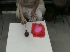 """Funhouse Fibers """"Time Capsule"""": spinning a silk hanky"""