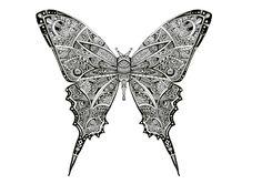 Papillon - artwok by Bleeken #doodle #insect