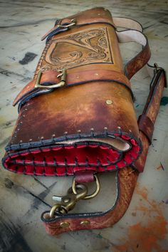 Custom Leather Knife Roll | Linny Kenney