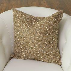 Global Views Golden Beaded Pillow