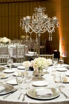 table chandeliers