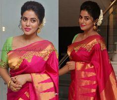 Pink Saree Blouse Ideas