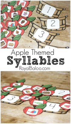 Free Apple Themed Syllable Sorting Game *use for whole group activity/each student places their Apple in the basket Phonological Awareness Activities, Phonics Activities, Apple Activities Kindergarten, Kindergarten Prep, Preschool Literacy, Early Literacy, Kindergarten Classroom, Educational Activities, Classroom Ideas