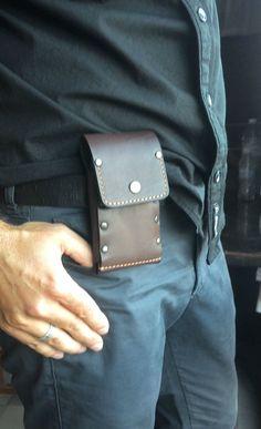 Handmade sleeve from vintage dark brown genuine leather by TIZART