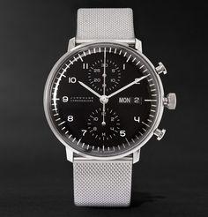 JunghansMax Bill Chronoscope Stainless Steel Watch