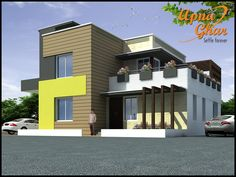Duplex House Design has to be classy looking and designing makes it classy for designing you need an expert #apnaghar  4 Bedrooms Duplex House Design in 195m2 (15m X 13m).  View the Floor Plan here: http://apnaghar.co.in/house-design-347.aspx  Call Toll-Free No.- 1800-102-9440 Email: support@apnaghar.co.in