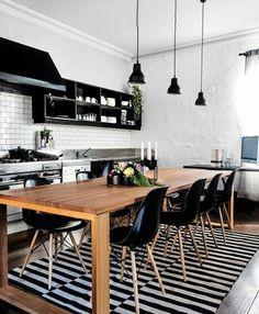 Cozinha integrada P&B