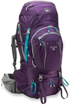 REI Crestrail 65 Pack - Women's. For hiking in Glacier National Park.