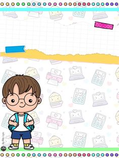 School Border, Preschool Graduation, Box Patterns, Frame Clipart, Cute Backgrounds, School Notes, Diy And Crafts, Doodles, Clip Art