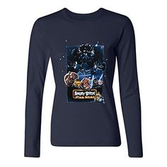 ZHUYOUDAO Custom Womens Poster Angry Bird Star Wars Tshirts Long Sleeve Royal Blue S ** Details can be found by clicking on the image.