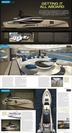 Boat International Magazine October 2012, Cover and 6 Page Spread