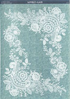 Kanban Crafts - Lovely in Lace - printed background card - Lovely in Lace