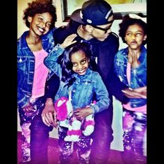 August Alsina  his three nieces their  father died/his brother and he steps up for them man I wish I had somebody in my life like him