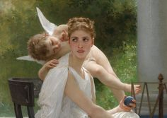 William-Adolphe Bouguereau (French, 1825-1905), Le travail interrompu, 1891  Mead Art Museum permanent collection | Amherst College