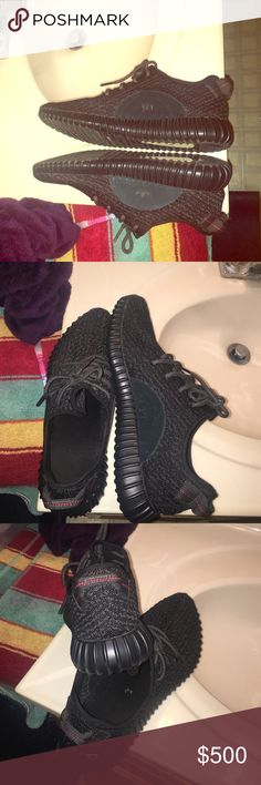 Yeezys boost shoes Black Yeezy Boost size 13 rating 10/10 only worn 5 times make offers Yeezy Shoes Sneakers