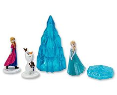 DecoPac Frozen Winter Magic Signature Cake Topper Set After the party she'll have the perfect Frozen play set Food-safe plastic 6 piece set. Includes: Elsa, Anna, and Olaf figurines, ice castle, and light up snowflake base. Frozen Birthday Party Supplies, Frozen Birthday Cake, Birthday Candy, Frozen Party, 4th Birthday, Birthday Ideas, Frozen Theme, Birthday Gifts, Olaf Frozen Cake