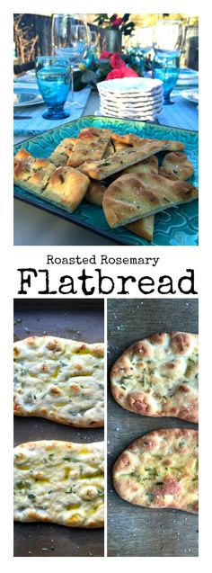 Roasted Rosemary Flatbread at ReluctantEntertainer.com