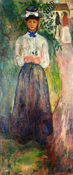 Young Woman among Greenery Edvard Munch, 1904