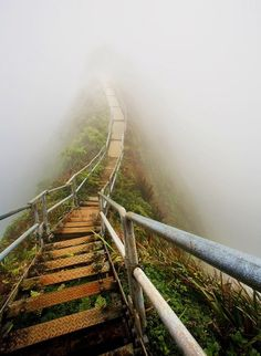 "HAWAII! Climb the ""Stairway to Heaven"" or Haiku stairs to see the amazing views and the sheer drop offs on either side"