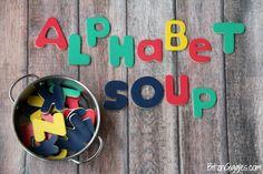 Alphabet Soup: Fun Educational Letter Games + Vegetable Soup Recipe