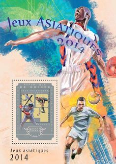 Post stamp Guinea GU 14607 b Asian Games 2014 (Baseball) Asian Games, Stamps, Baseball Cards, Sports, Books, Seals, Hs Sports, Libros, Book