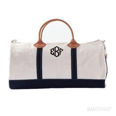 Monogrammed Round Duffel Bag
