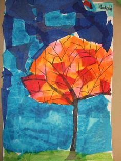 This is a lovely art lesson to do during the Autumn season with the lovely colors a changin. I talked a little about Autumn, but didn't...