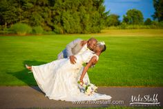Groom kisses his bride while dipping her #Michiganwedding #Chicagowedding #MikeStaffProductions #wedding #reception #weddingphotography #weddingdj #weddingvideography #wedding #photos #wedding #pictures #ideas #planning #DJ #photography #bride #groom