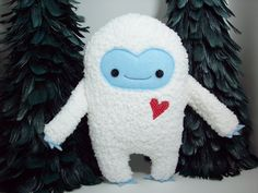 """I have to stop looking up things like """"yeti"""" on the internet and thinking I won't run into the cutest little creations  #Etsy-warmpersonality"""