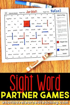 Are you in search of sight word games for your first grade, second grade, and third grade classroom? Sight Word Centers, Sight Word Practice, Sight Word Games, Second Grade Sight Words, Spelling Word Activities, Grade Spelling, Spelling Words, Third Grade Reading, First Grade Reading Games