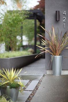 simple, modern garden