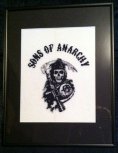 Sons Of Anarchy Reaper Cross Stitch Picture Pattern Downloadable files