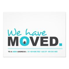 We've Moved Moving Announcement Housewarming Party Invitation by fatfatin