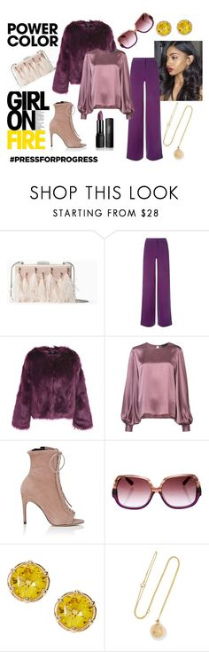 The Color Purple by rasheeda-moore on Polyvore featuring Nili Lotan, Unreal Fur, La Perla, Sergio Rossi, Kate Spade, Grace Lee Designs and MCM