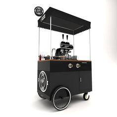 Ice Cream Business, Coffee Business, Cafe Shop Design, Kiosk Design, Ice Cream Cart, Coffee Ice Cream, Coffee Carts, Coffee Shop, Led Logo