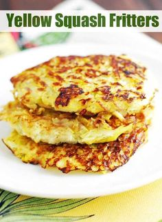 Delicious yellow squash fritters make a great alternative to hash browns and prove that fried foods can be very healthy! via @healthyrecipes