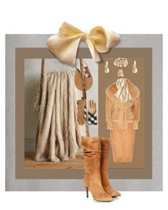 """Suede Griege"" by janetvera on Polyvore featuring Anthropologie, River Island, Gestuz, Altuzarra, Robert Lee Morris, Emilio Pucci, Balmain, Uniqlo, Burberry and Vogue Eyewear"