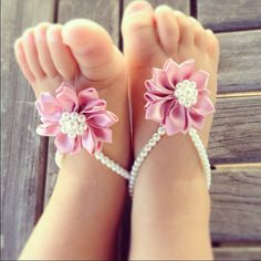 Baby barefoot sandals, baby shoes, newborn, baby jewelry, new mom gift, baby ankle bracelet, infant , baby girl on Etsy, $22.00