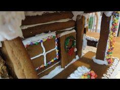 Gingerbread Log Cabin Part 2 - YouTube