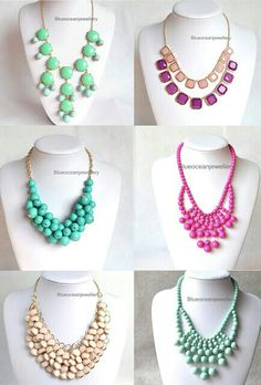 Statement necklesses! ❤