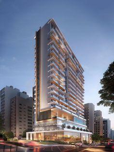 Business Architecture, Hotel Architecture, Green Architecture, Architecture Visualization, Residential Architecture, Arch Building, Building Facade, Building Exterior, Residential Building Design