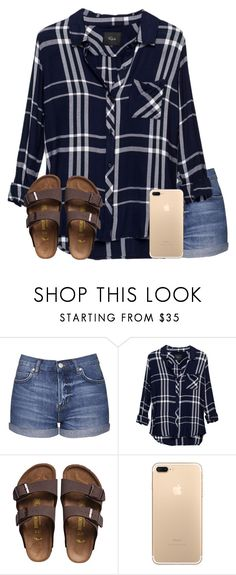 """""""Idk if this matches but whatever"""" by jasietote ❤ liked on Polyvore featuring Topshop, Rails and Birkenstock"""