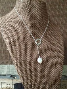 Oval Ring and Coin Pearl Sterling Silver Y by loveFabulousFinds