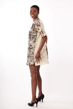 Robe  ou Tunique en tissu africain : Boubou khoudia