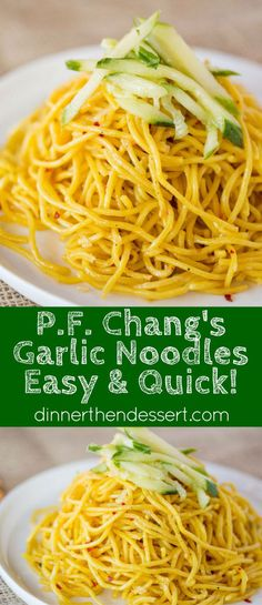 P.F. Chang's Garlic Noodles are a quick and easy Chinese noodle dish copycat dish you can make without the heavy flavors of a chow mein and as the perfect base for your favorite stir fry meals.