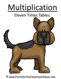 Quick and Easy Center and Printables - Multiply By Eleven - Puppy Themed #TPT $paid