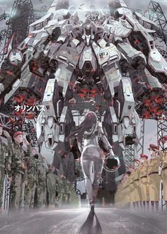 An artist who goes by the name Boomslank created this spectacularly epic anime-style art inspired by Gundam Unicorn. Arte Gundam, Gundam Art, Gundam Exia, Bd Comics, Anime Comics, Robot Design, Game Design, Science Art, Science Fiction