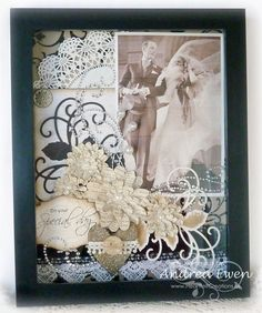 Love the details of the embellishments in this shadow box.