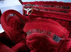 The Hog Ring - Auto Upholstery Community - Lowrider Interior Car Seat --these are both beautiful and mother-trucking terrifying.